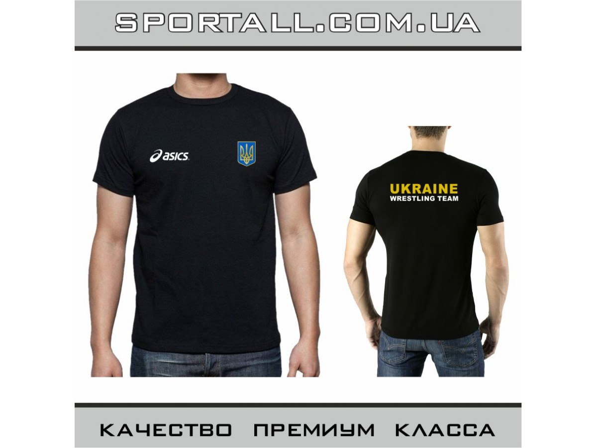 Футболка Asics Ukraine Wrestling Team Борьба 76ef66b7e96