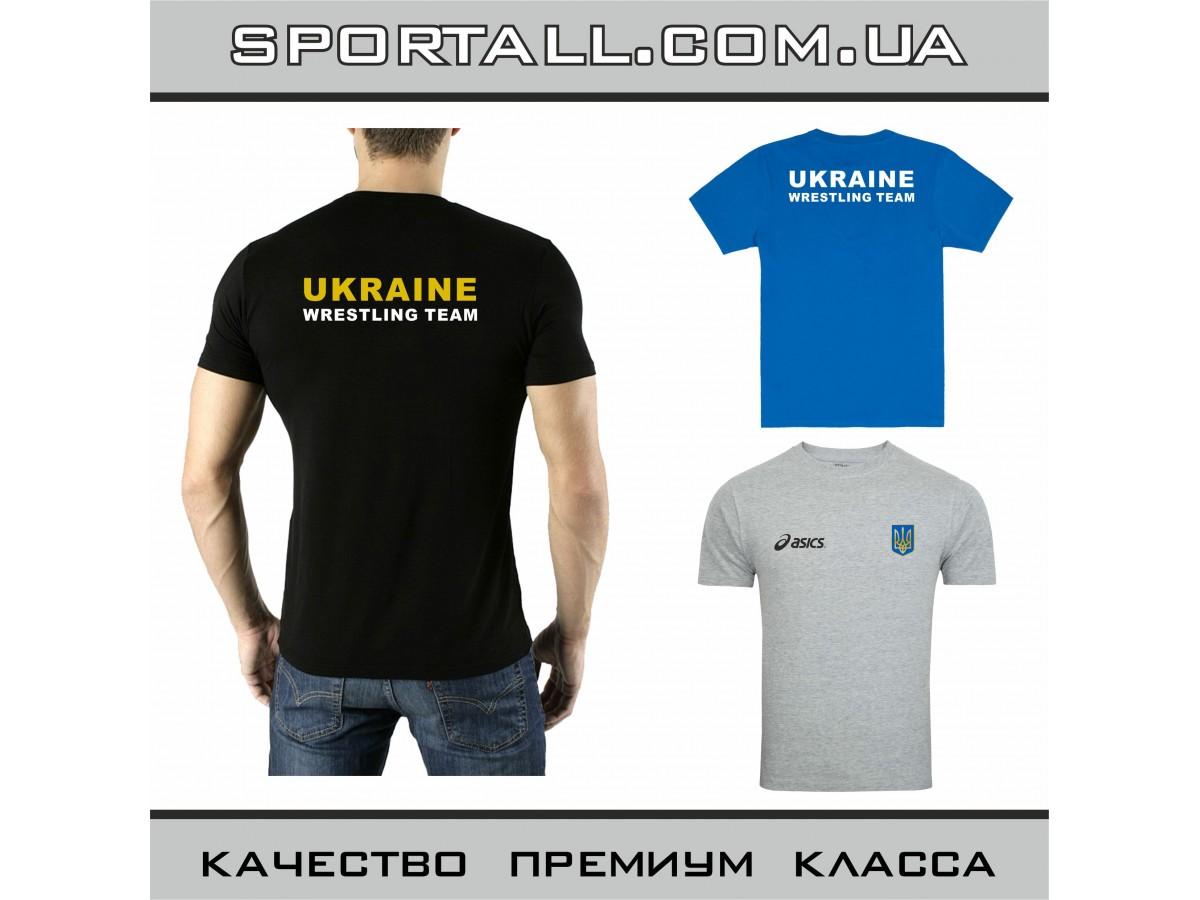 860638f14 Футболка Asics Ukraine Wrestling Team Борьба