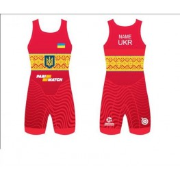 Трико борцовское национальной сборной Украины по борьбе 2017 UWW
