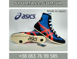 Борцовки Asics tiger wrestling shoes (blue-navy-red-gold)