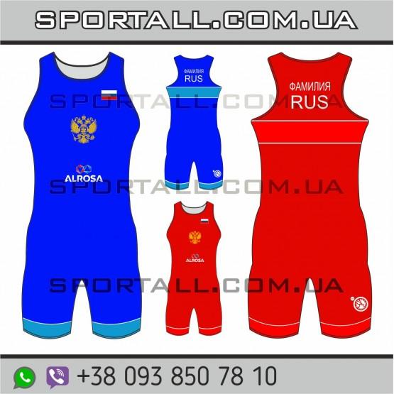 Трико борцовское национальной сборной России по борьбе 2017 UWW